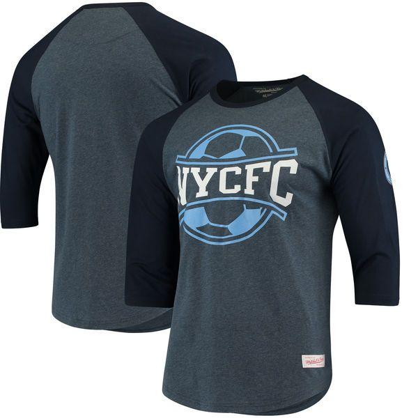 New York City FC Mitchell & Ness Raglan T-Shirt - Navy - $41.99