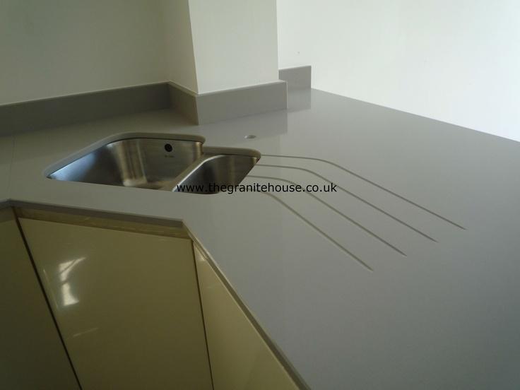 Silestone kensho our quartz worktops installations pinterest - Witte quartz werkblad ...