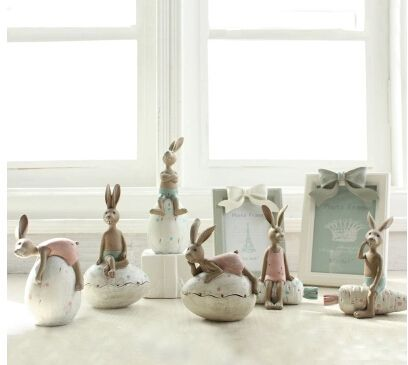 Супер милый кролик Животное Украшения Рабочего Стола Украшения реального прикосновения Творческие Подарки Свадебные Подарки коробка для хранения дети Копилку купить на AliExpress
