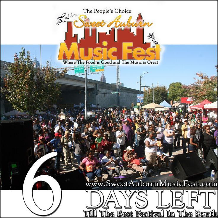 6 More Days till the best festival in the Atl! Something there for everyone in the Family! Hope to see you there! @sweetauburnmusicfest  #sweetauburnmusicfest #samusicfest #samusicfest2017 #Atlanta #picoftheday #1 #hiphop #randb #musicians #music #soul #jazz #gospel #fest #festival #auburnave #edgewood #4thward #history #vendors #food #international #Georgia #family #friends #people #goodfoodgreatmusic
