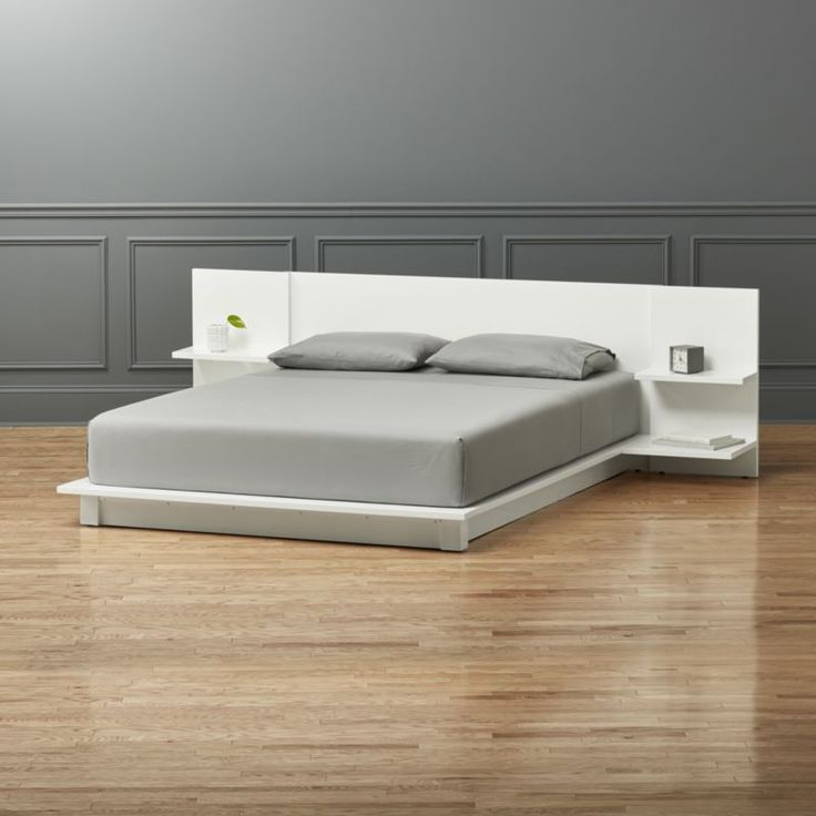 andes white queen bed - cb2