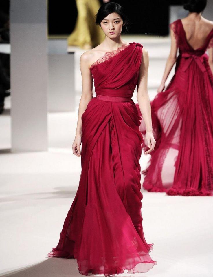 1 shoulder evening dresses von