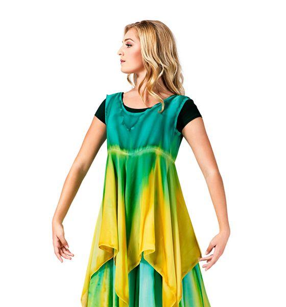 Watercolour Women's Worship Handkerchief Dress