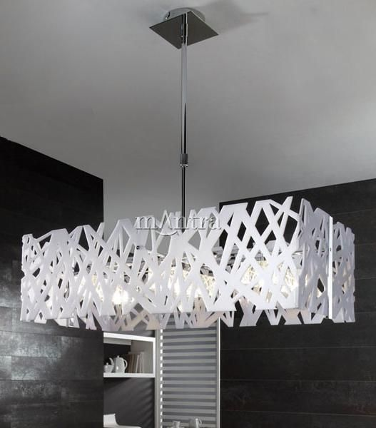 Modern Ceiling Lighting Fixture with White Gloss Frame | light fittings | home lighting shop