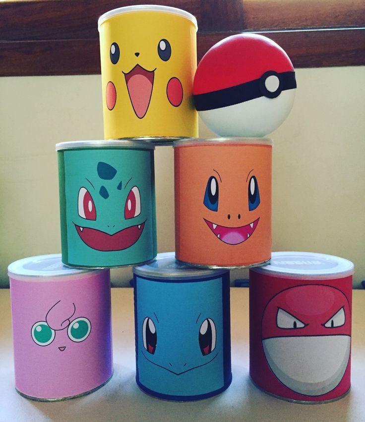 Dosen werfen: Pokemon für Kindergeburtstag