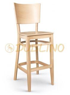 XTon08/sg/natur - barová židle z bukového dřeva v barvě natur