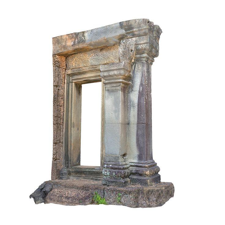 pillar gate temple 8k obj