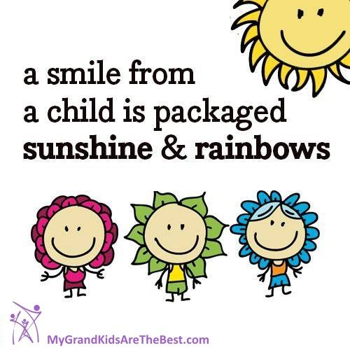 A smile from a child is packaged sunshine and rainbows.