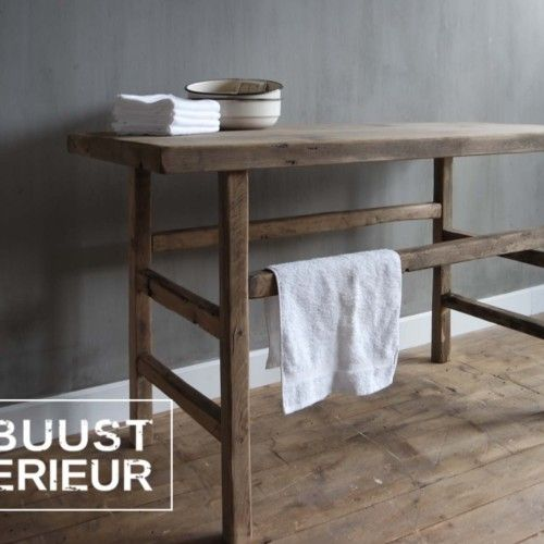 #robuustinterieur#hout#od#eiken#wastafel#badmeubel#