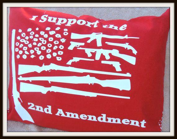 Second Amendment Decor Gun Decor Gun Throw Pillow by carrabelle