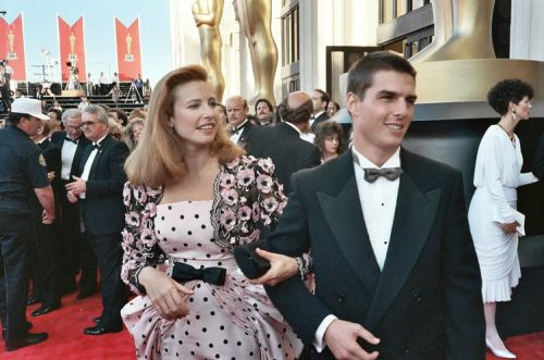 Tom Cruise & first wife Mimi Rogers at the 1989 Oscars
