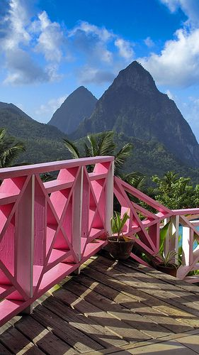 Pitons, Soufriere, St Lucia. Exotic beauty reminiscent of the South Pacific found in the Caribbean.
