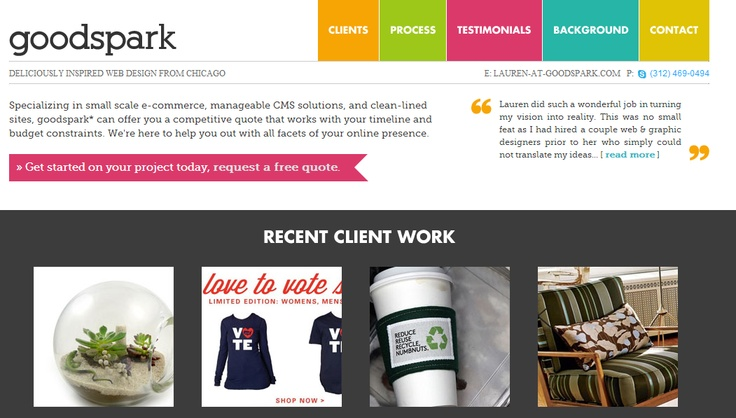 goodspark | deliciously inspired web design from Chicago