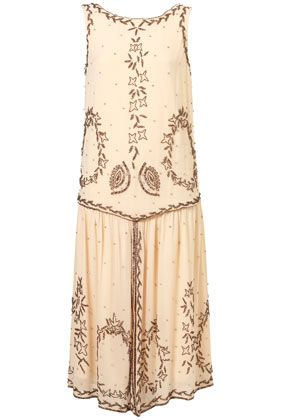 It would have been fun to live in the roaring 20s, wear a dress like this one, and go to parties like Gatsby's.