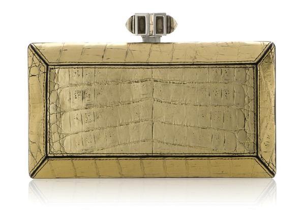 9348f24e16 Crocodile Gold Clutch