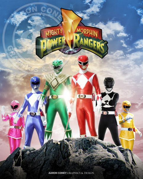 8 x 10 glossy print of the legendary Mighty Morphin' Power Rangers, in honor of the 20th anniversary Power Rangers Super Megaforce, and the legendary war.