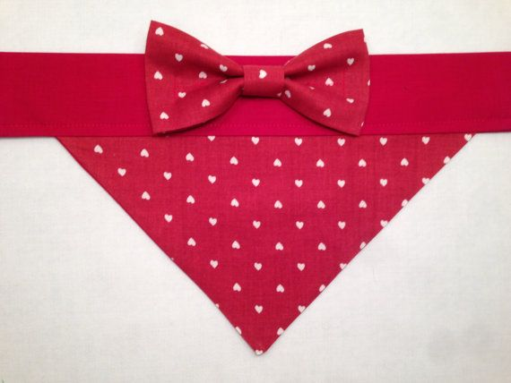 Dog Bandana  Valentine's Day Heart Print with by SpottedDogShop, $9.95