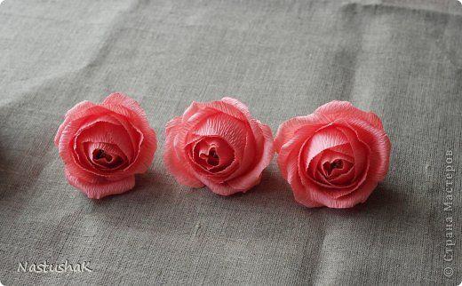 Мастер-класс Свит-дизайн Моделирование конструирование дцатый МК по розе или как ее делаю я Бумага гофрированная фото 1