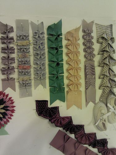 ribbon trim ideas....(love these!...all done with regular ribbons and changed into this? beautiful!)...