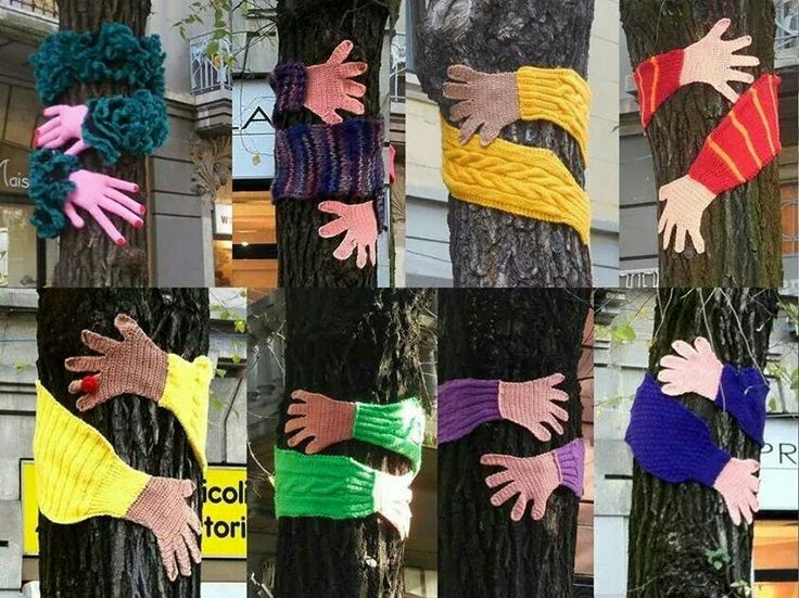 I think I have to make some of these for the trees in our front yard  #treehuggers are the best!
