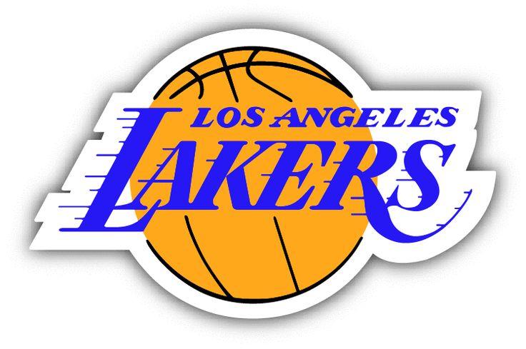 Los Angeles Lakers NBA Basketball Sport Logo Car Bumper Sticker Decal 5 x 3