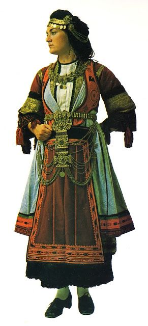 Costume of the Karagounes, Thessaly, Greece