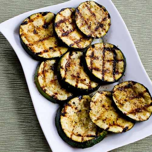 How to Grill Zucchini - Perfect Every Time! from Kalyn's Kitchen  #LowGlycemicRecipes  #SouthBeachDietRecipes