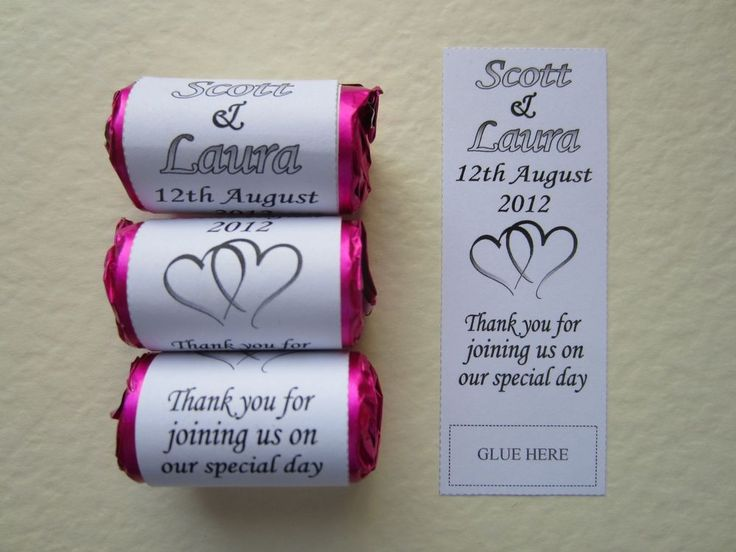 60 Personalised Sweets Wrappers ONLY Love Wedding Hearts Favours Gift Party Mini