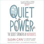 I finished listening to Quiet Power: The Secret Strengths of Introverts (Unabridged) by Susan Cain, Gregory Mone, Erica Moroz, narrated by Kathe Mazur on my Audible app.  Try Audible and get it free.
