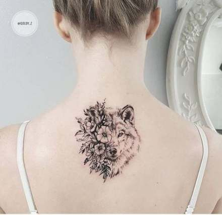 45 Ideas Tattoo Wolf Flower Tatoo