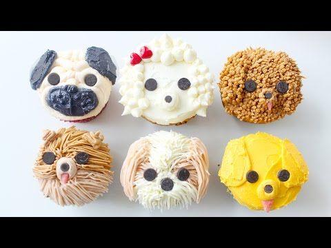 DIY DOG CUPCAKES - Pug, Pomeranian, Golden Retriever, Shih Tzu, Labradoodle & Poodle | RECIPE - YouTube