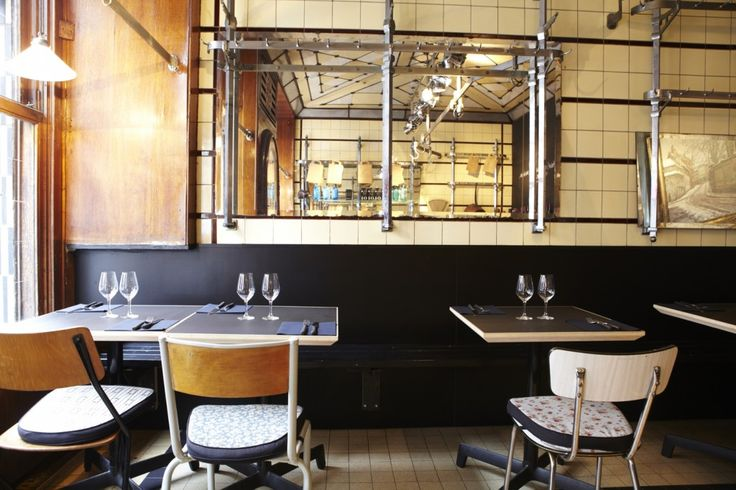 La Buvette is the Brussels version of the latest bistronomie-trend: very good and original food in an easy-going, not-pretentious ambiance. This restaurant is located in an old butcher shop, with only old hooks hanging from the ceiling that remain. La Buvette only serves 1 menu,  5 courses for 20 euros (for lunch), and 7 courses for 45 euros (for dinner).   La Buvette, Ch. d'Alsemberg 108, 1060 Saint-Gilles, tel: +32 (0) 2 534 13 03