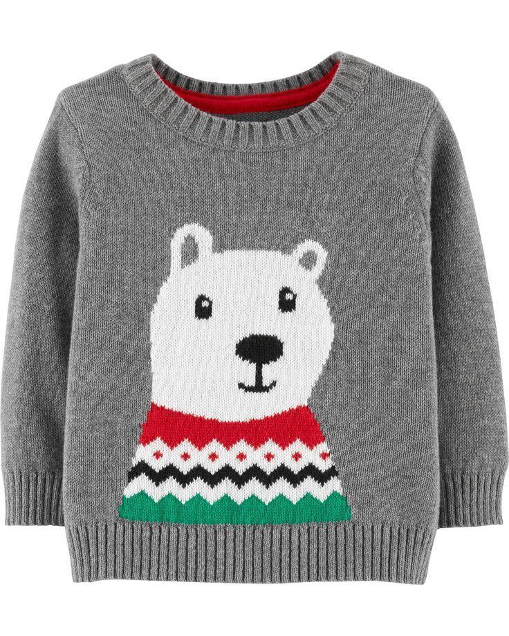Christmas Polar Bear Pullover in 2018 Christmas Outfits for Boys