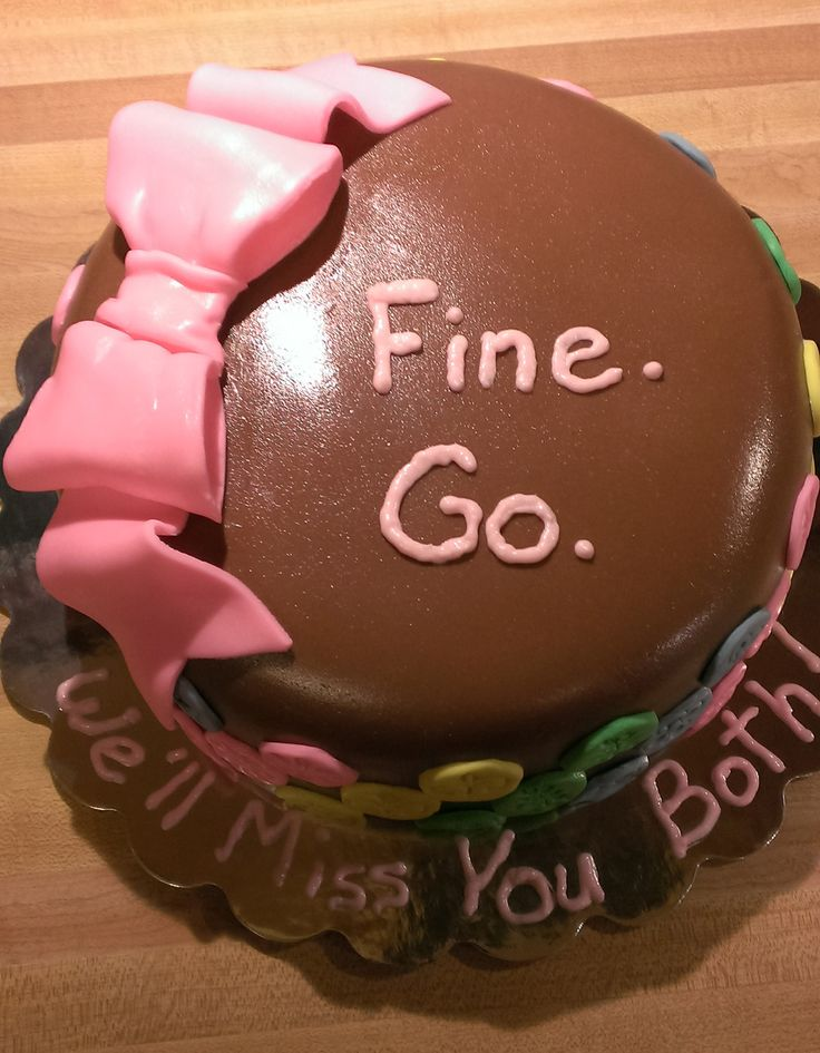 Best Farewell Cakes Images On Pinterest Farewell Cake Cat - 18 savage cakes that get straight to the point
