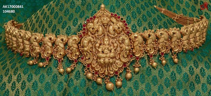 MattFinish WaistBelt http://ift.tt/2s0K5Vh  Jewellery  -  MattFinish Vaddanam Belt And Chain Type