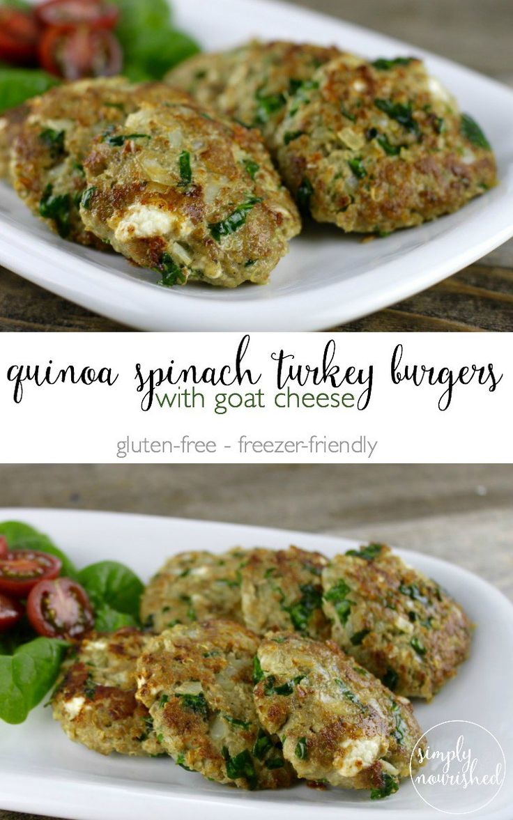 spinach turkey burgers with goat cheese quinoa turkey burgers goat ...
