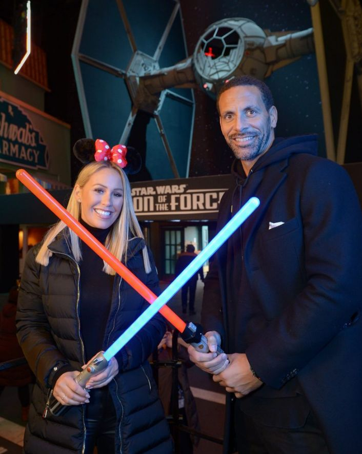 Rio Ferdinand and Kate Wright, Scarlett Moffatt, Kimberley Walsh and Stacey Solomon Face 'The Force' at Disneyland Paris' Season of the Force