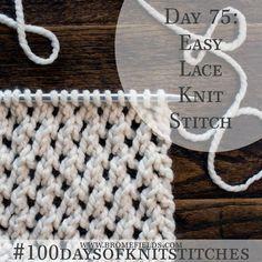 Como tricotar o ponto de malha de renda fácil + PDF + VIDEO