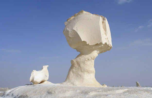 Le Désert blanc de Farafra en Égypte.