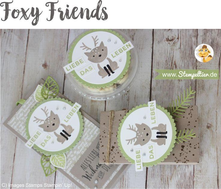 foxy friends geschenkset mitbringsel rentier by stampin up verpackung…