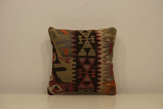 Embroidered small pillow colorful pillow boho home by kilimci