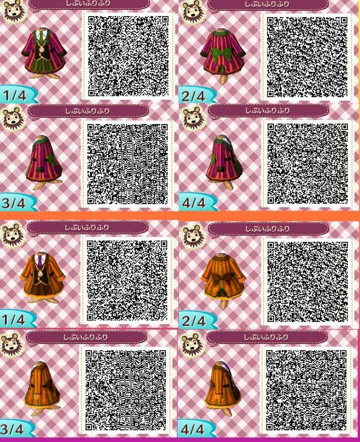 Outfits Collection Animal Crossing New Leaf Qr Codes Hd