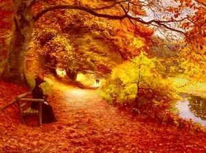 A Wooded Path In Autumn  Hans Anderson Brendekilde