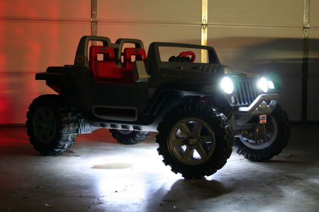 Power Wheels jeep light modifications