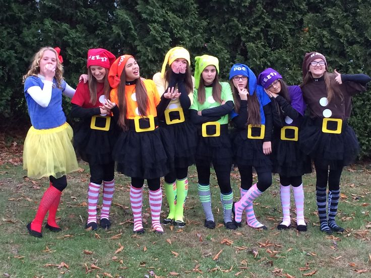 My daughter and her friends wanted to do something fun this year for Halloween - Snow White and the Seven Dwarfs.