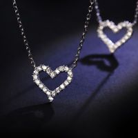 Neck Chain Necklaces Chic Heart Pendant Women Jewelry For Date Weeding Party