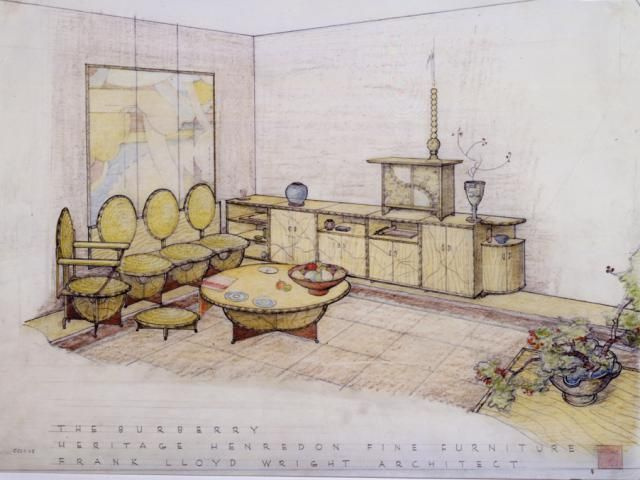 Sketches into Realites - 10 Architectural Drawings by Famous Architects: The Burberry Line