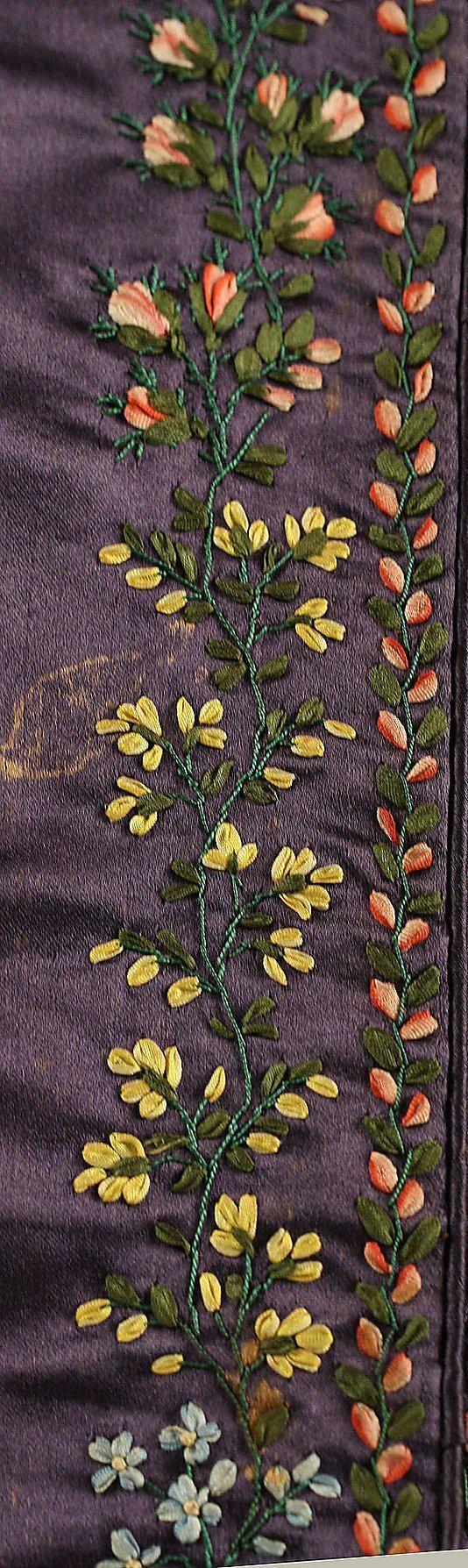 pereline 1830   Pelerine Date: ca. 1830 Culture: British Medium: silk. Detail