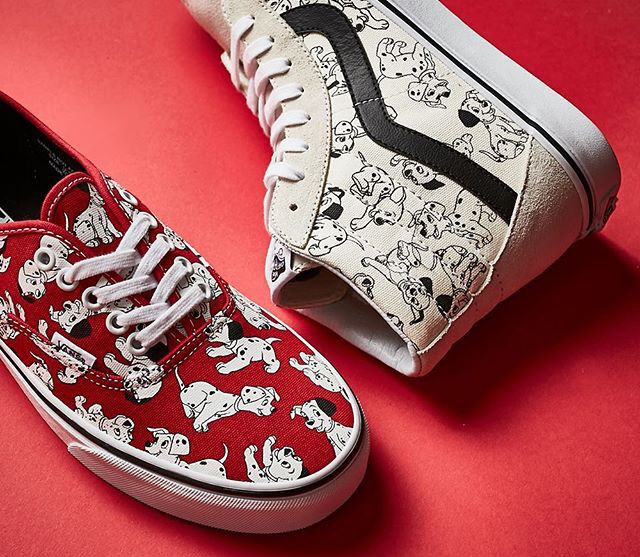 101 Dalmations vans, white high tops