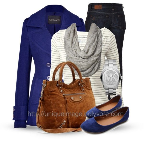 Fall Outfit: Casual Outfit, Rachel Zoe, Peas Coats, Royals Blue, Fashionista Trends, Fall Outfit, Blue Coats, Casual Looks, Electric Blue